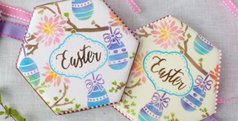 Easter Prettier Plaques Stenciled Cookie