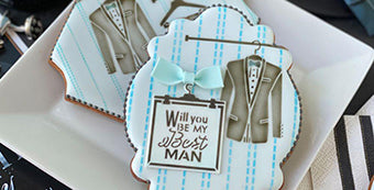 Groomsman Dynamic Duos™ Stenciled Cookie