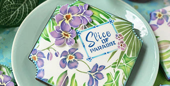 Slice of Paradise Dynamic Duos™ Stenciled Cookie