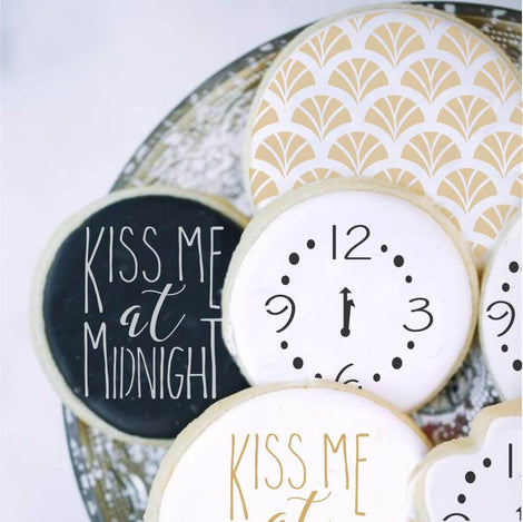 New Year's Cookie Stencils