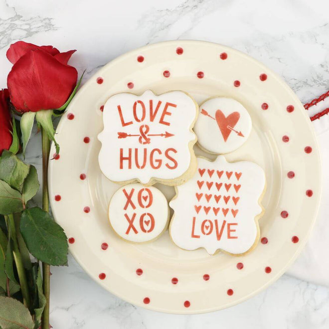 Valentine's Day Cookie Stencils