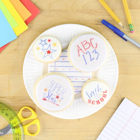 Back to School Cookie Stencils