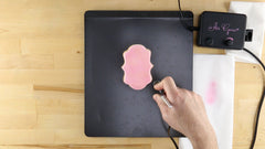 how to airbrush a background on cookies