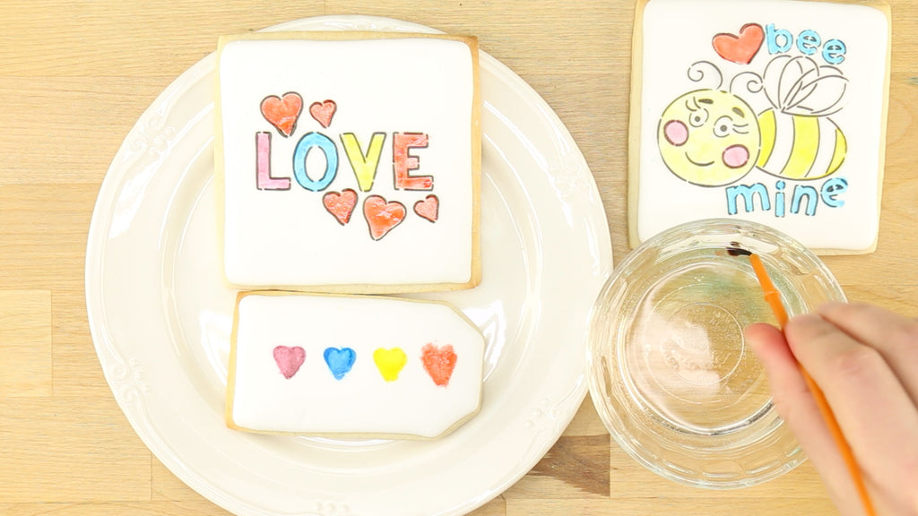 Painting your own cookies is just like using watercolors