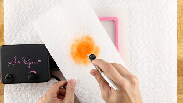 Load the color well and test it out on a piece of paper towel