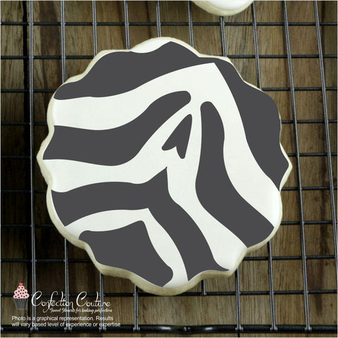Zebra Print Background Cookie Stencil Background