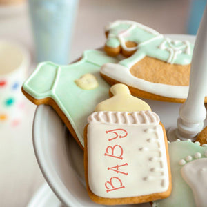 Baby Basic Words Cookie Stencil by Confection Couture