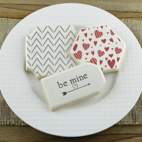 Valentines Basic Words Cookie Stencil
