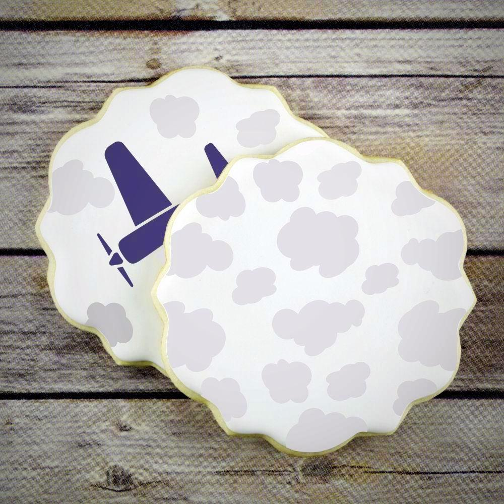 Clouds Basic Background Cookie Stencil by Confection Couture