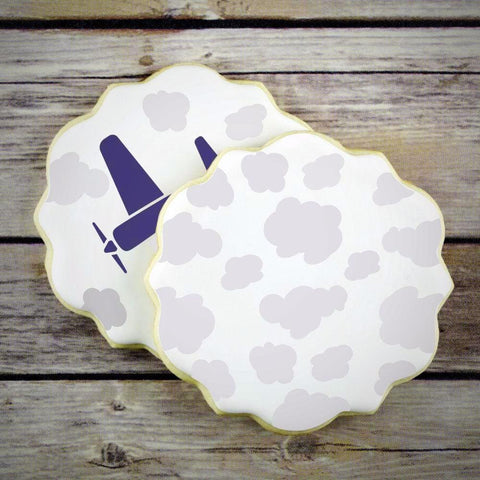 Clouds Background Cookie Stencil Background