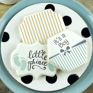 It's A Boy Basic Words Cookie Stencil by Confection Couture