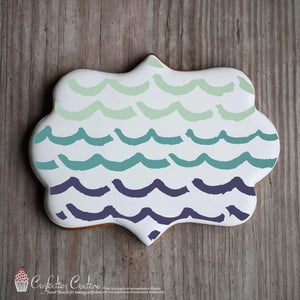 Whimsical Waves Background Cookie Stencil Background