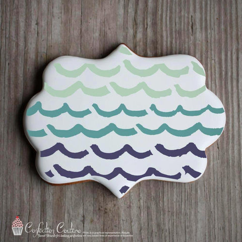 Whimsical Waves Background Cookie Stencil