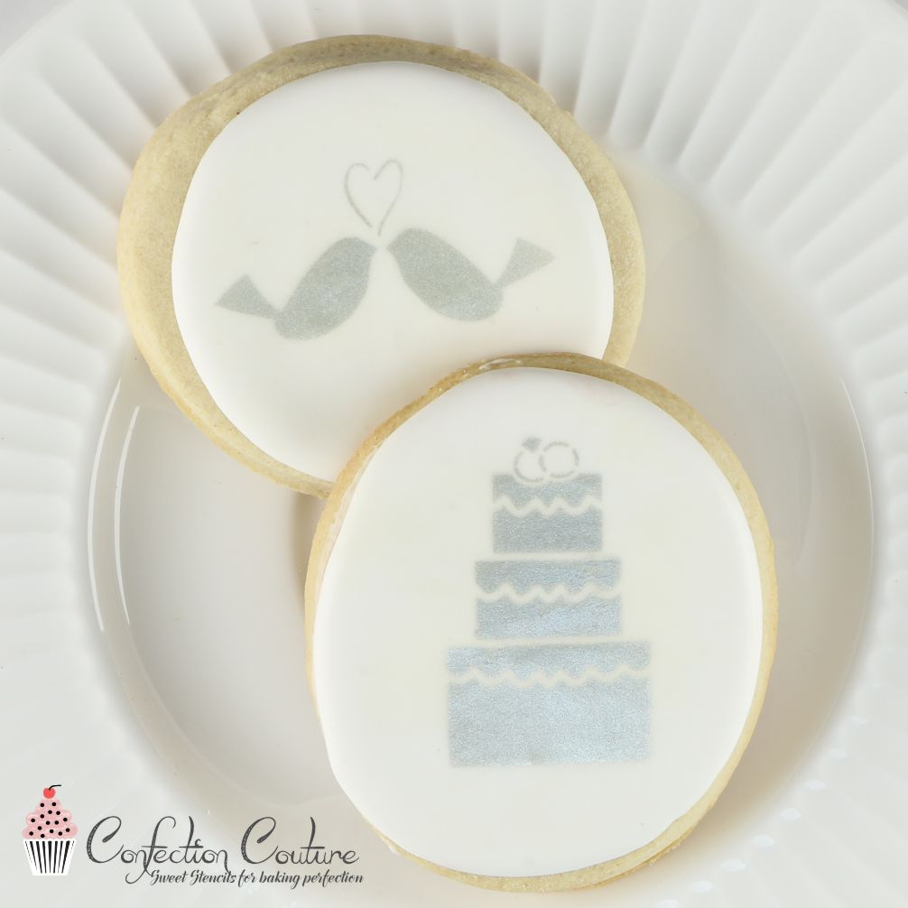 Wedding Bells Accent Cookie Stencil