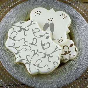 Scroll Basic Background Cookie Stencil by Confection Couture