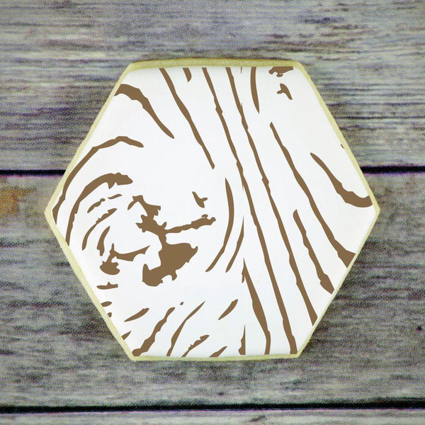Wood Grain Background Cookie Stencil by Confection Couture
