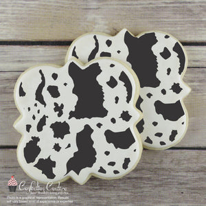Cowhide Print Background Cookie Stencil Background