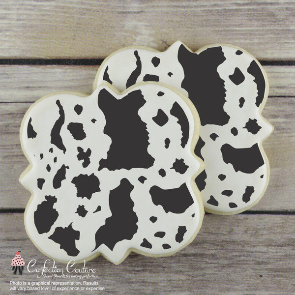 Cowhide Basic Background Cookie Stencil by Confection Couture