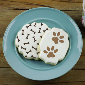 Dog Bones Background Cookie Stencil