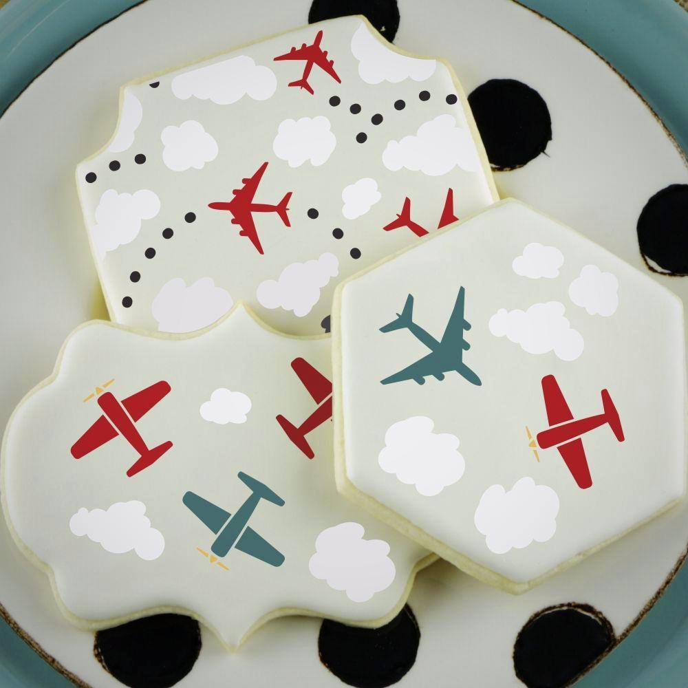 Planes Basic Accent Cookie Stencil by Confection Couture