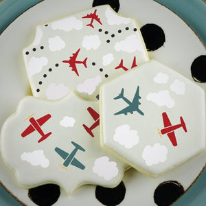 Planes Accent Cookie Stencil