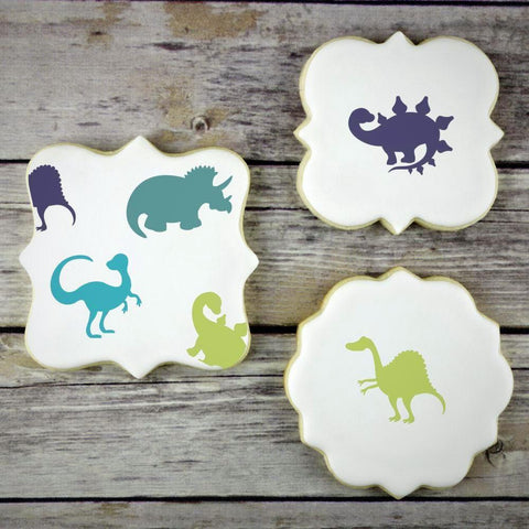 Dinosaur Basic Accent Cookie Stencil by Confection Couture