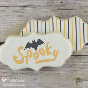Halloween Basic Words Cookie Stencil by Confection Couture
