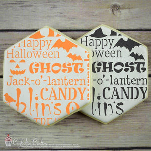 Halloween Subway Basic Background Cookie Stencil by Confection Couture