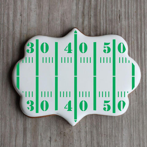 Football Field Background Cookie Stencil