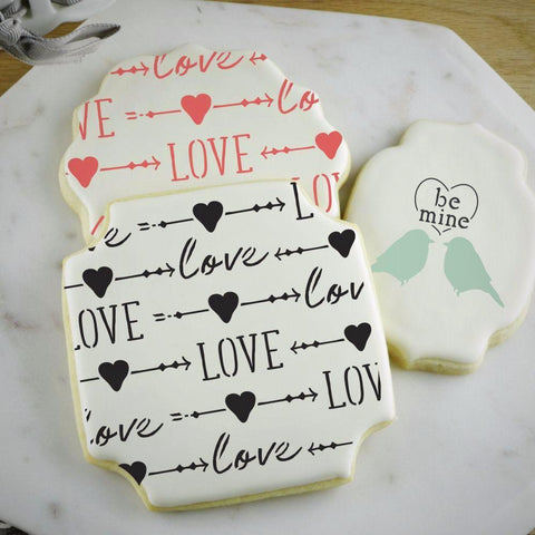 Love And Arrows Basic Background Cookie Stencil Background