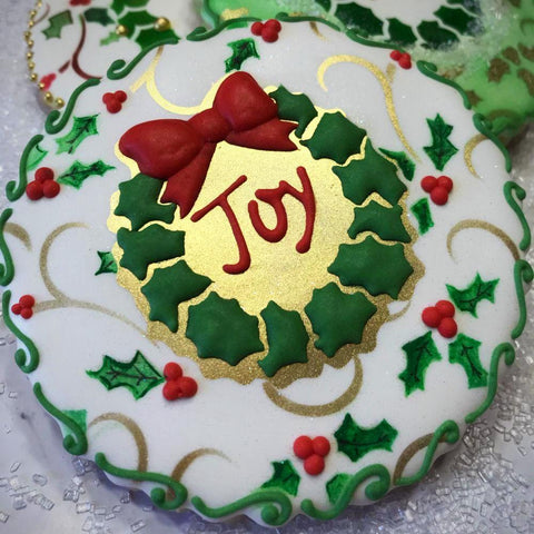 Joy 2 Prettier Plaques Cookie Stencil 5 Pc Set
