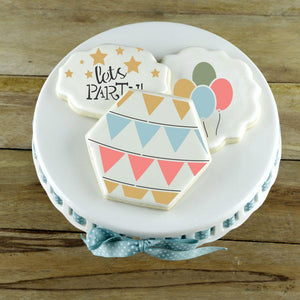 Birthday Party Accent Cookie Stencil Accents