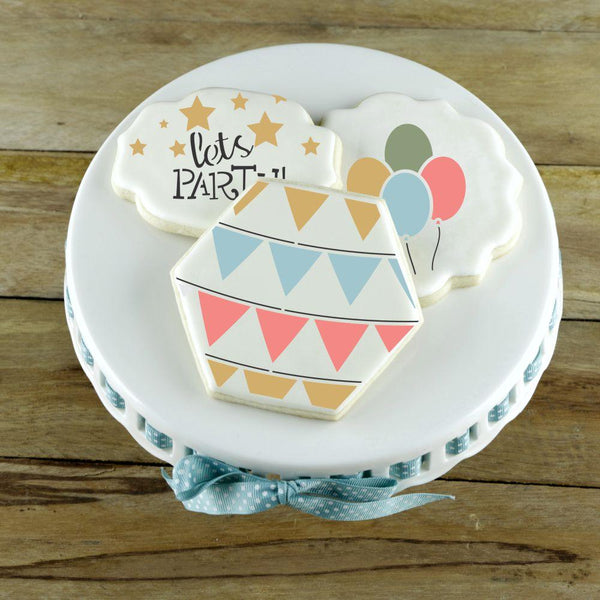 Birthday Party Basic Accent Cookie Stencil by Confection Couture