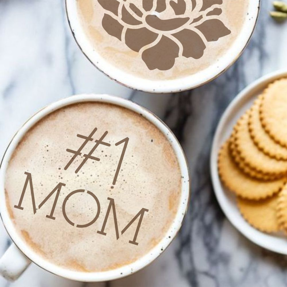Mother's Day Barista Stencil 3 Piece Set