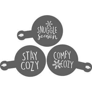 Stay Cozy Barista Stencil 3 Piece Set