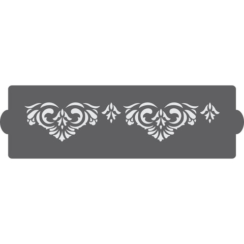 Victorian Border Cake Side Stencil