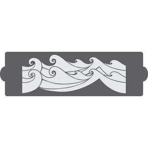 Rolling Waves Cake Side Stencil