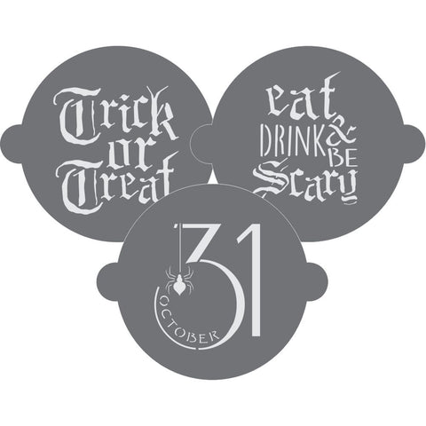 Trick or Treat Cake Top Stencil Trio