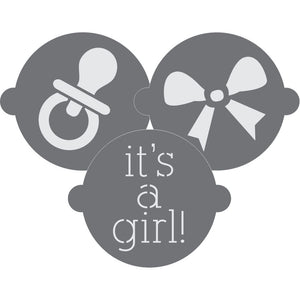It's a Girl Cake Top Stencil Trio