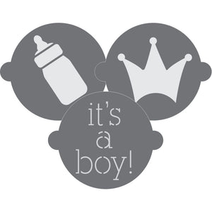 It's a Boy Cake Top Stencil Trio