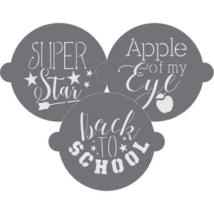 Back to School Cake Top Stencil Trio