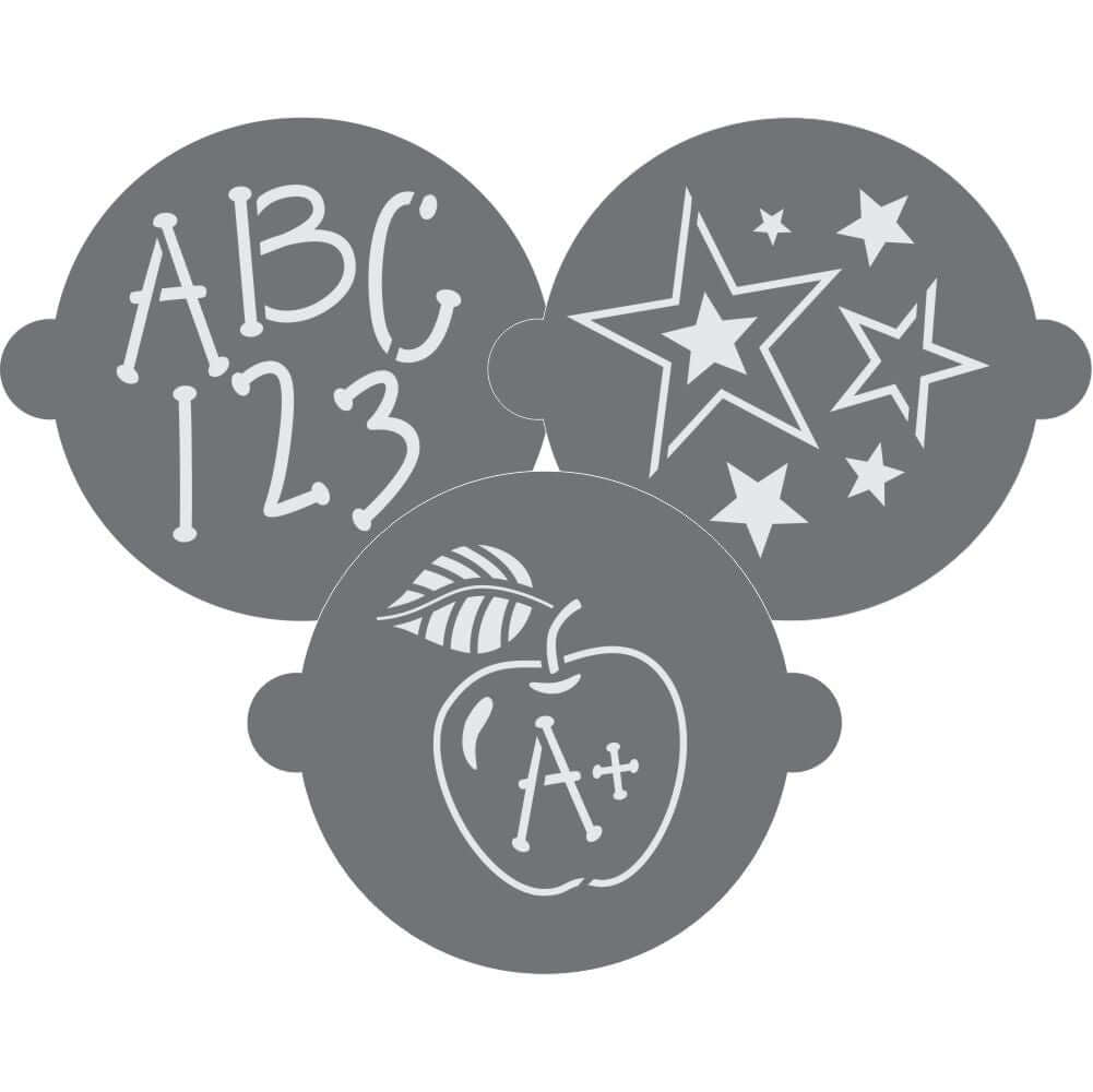 ABC's and 123's Cake Top Stencil Trio