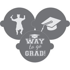 Graduation Cake Top Stencil Trio