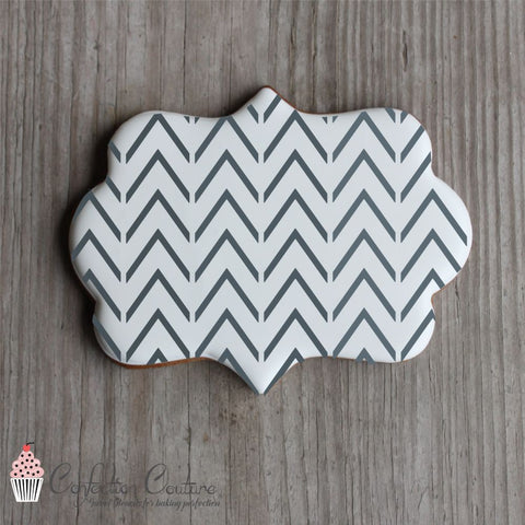 Thin Chevron Background Cookie Stencil