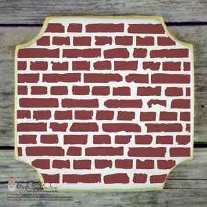 Brick Wall Background Cookie Stencil