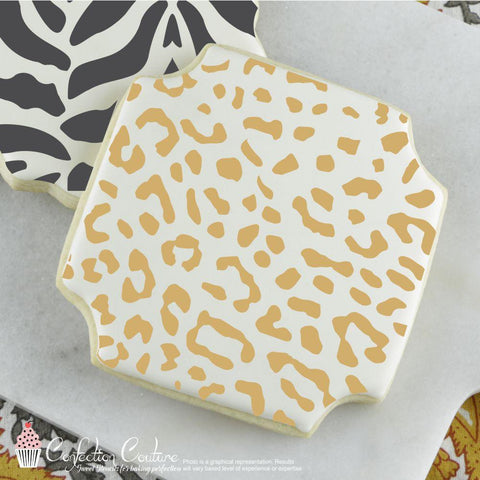 Leopard Print Background Cookie Stencil Background