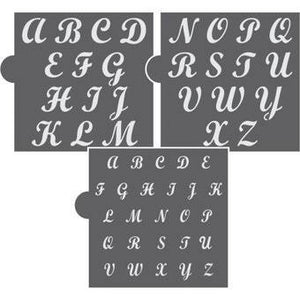 Simply Sweet Basic Alphabet Set Cookie Stencil by Confection Couture