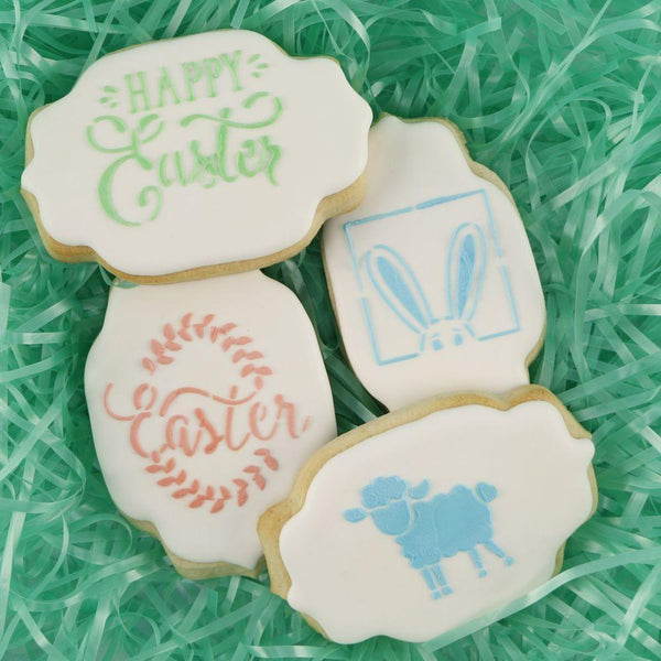 Easter Words Cookie Stencil
