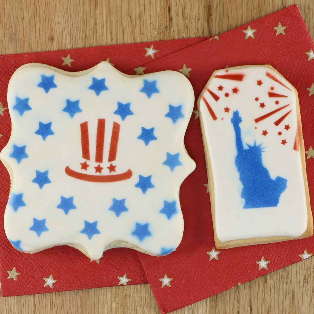 Patriotic Accent Cookie Stencil