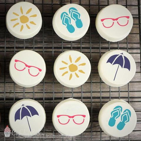 Beach Day Basic Accent Cookie Stencil by Confection Couture